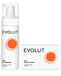 Evolut Cleansing Kit For Face With Silver Nanoparticles - Evolut набор для очищения кожи лица с наночастицами серебра